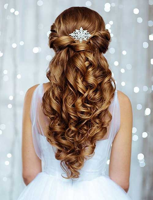 Estilos de cabello de la boda para cabello largo-9