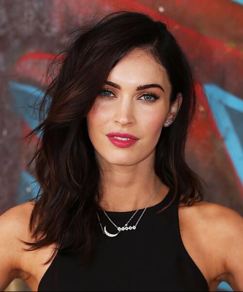 megan fox peinados de longitud media