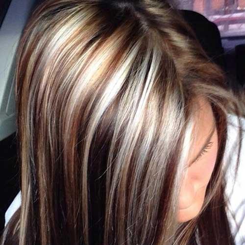 Aspectos destacados y bajos para colores de cabello marrón oscuro