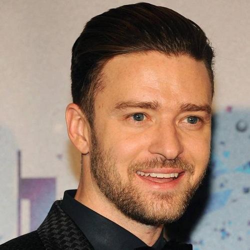 Peinados oscuros de Justin Timberlake