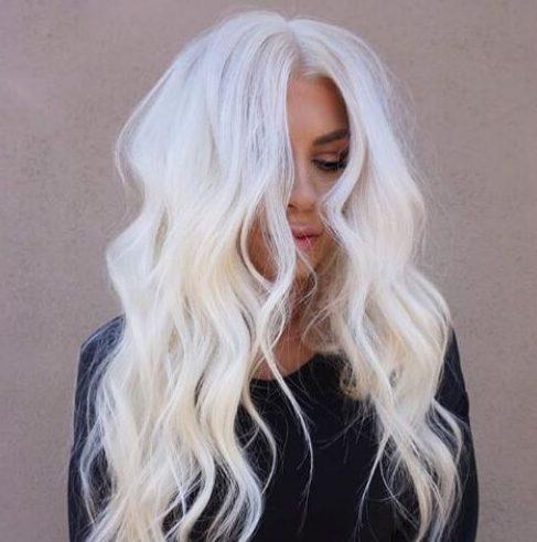 peinados rubios de leche blanca