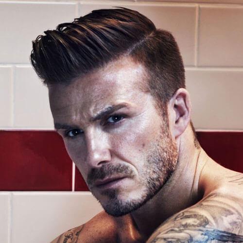 Peinados Pompadour David Beckham