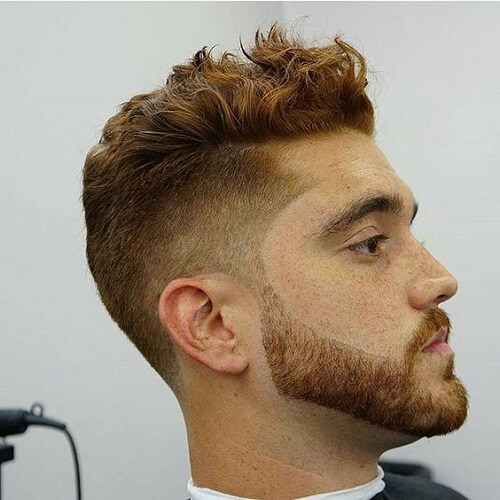 Ginger Taper Fade Haircut
