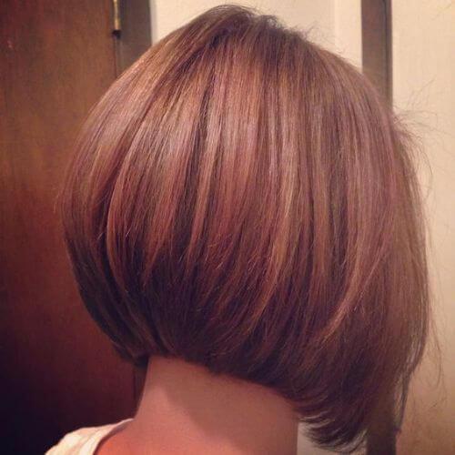 corte de pelo corto bob apiladas