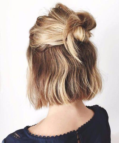 peinados cortos rápidos y fáciles
