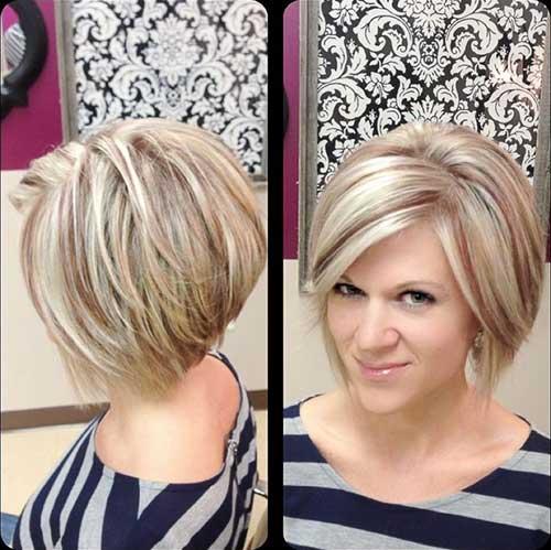 Lindo peinado rubio para cabello corto