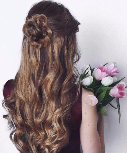 la boda se levantó largos peinados