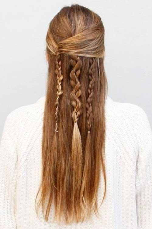 Boho Long Hairstyles con trenzas
