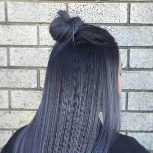 peinados gris oscuro para el pelo lacio