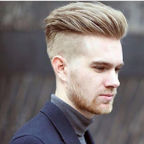 cara afeitada halcón falso para cabello fino
