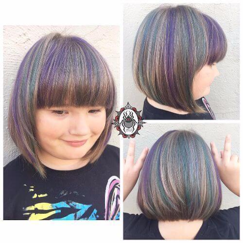 cabello corto arcoiris