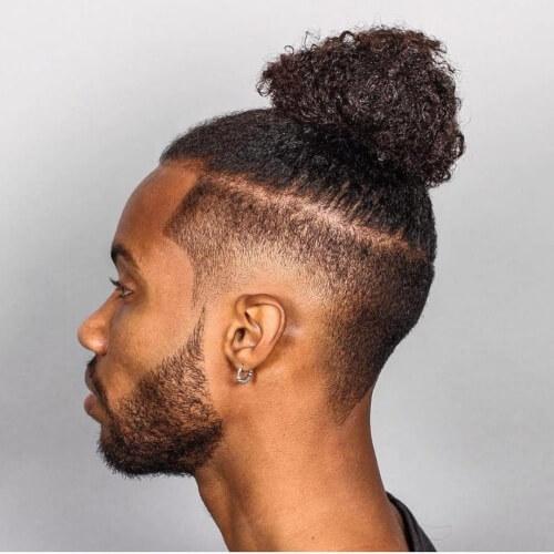 Peinados mohawk nudo natural superior para hombres