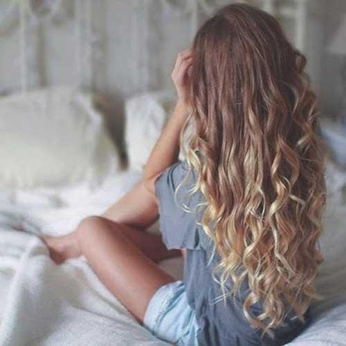 Ondulado largo peinados