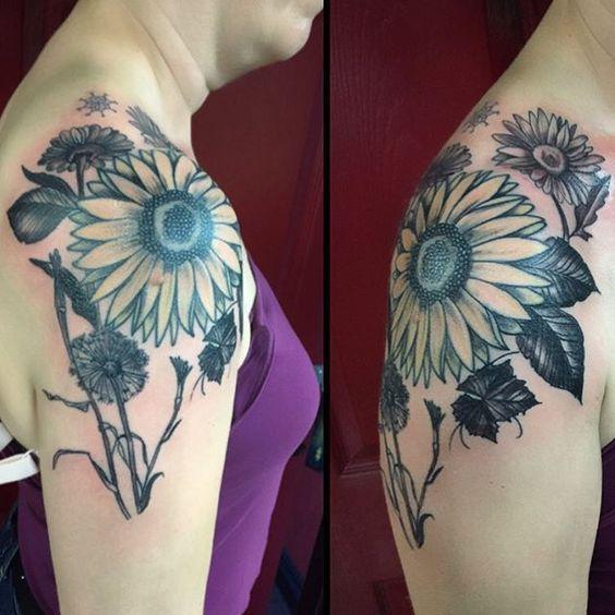Tatuaje de girasol