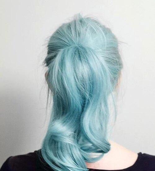 sirena azul ombre pelo
