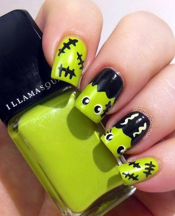 50+ diseños de arte de uñas Spooky Halloween » Largo Peinados