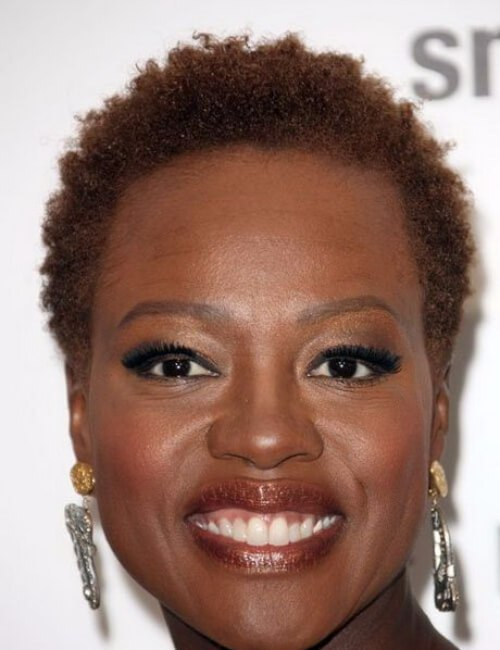Peinados cortos naturales de viola davis para mujeres negras