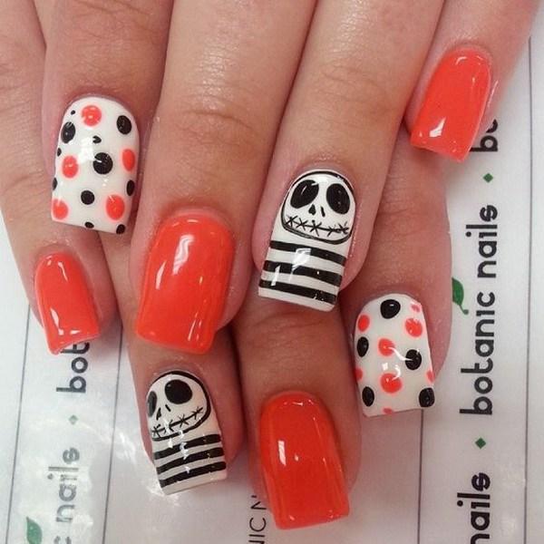 Diseños de uña de Halloween.  Ideas de arte de uñas de Halloween.