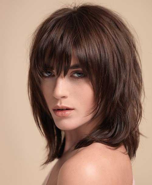 Peinados con flequillo 2018-17