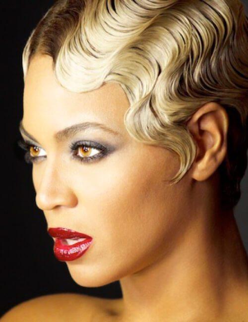 explosión de Beyonce de los últimos peinados cortos para mujeres negras