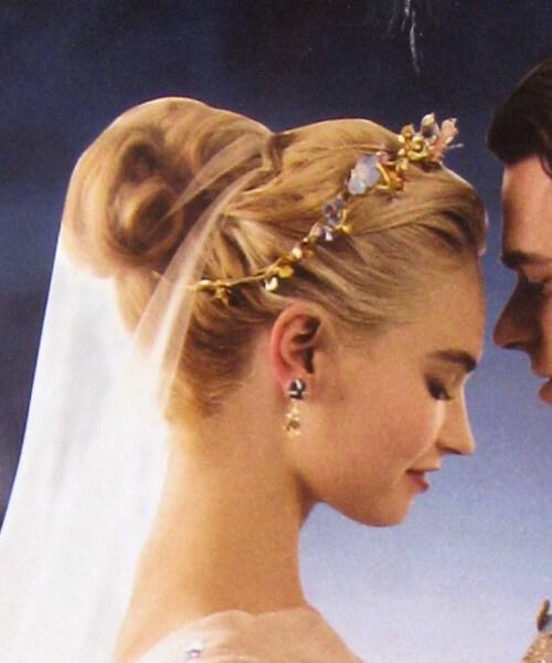 Peinados de boda de Cenicienta para cabello largo