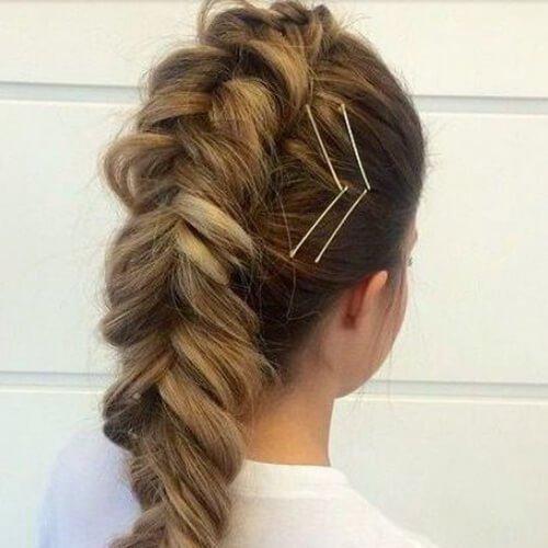 trenzado mohawk peinados frescos para niñas