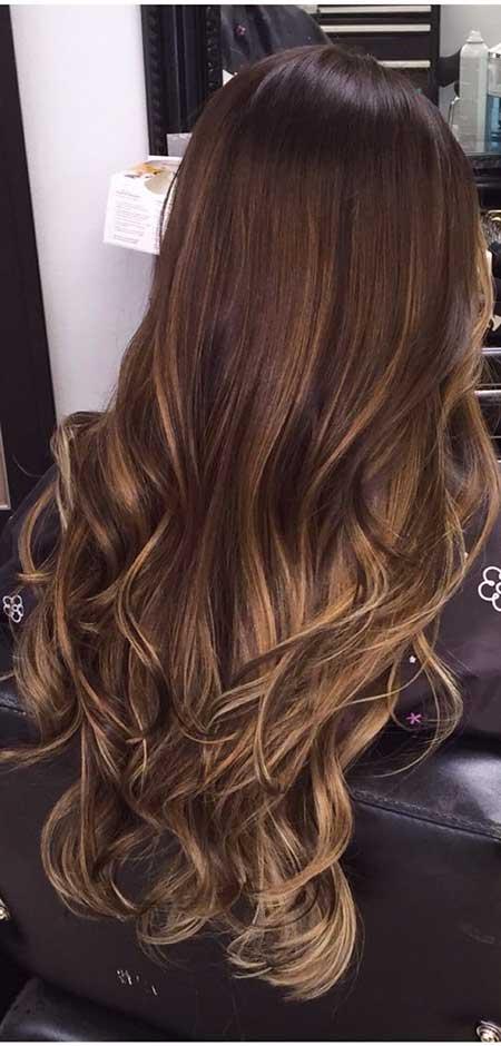 Ombre Color de cabello para Morenas Moños Ombre Brown, Balayage