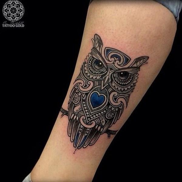 Ideas de tatuaje de búho.  Más a través de https://forcreativejuice.com/attractive-owl-tattoo-ideas/