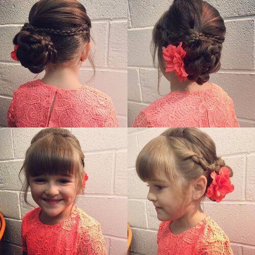 peinados de niñas trenzado alto