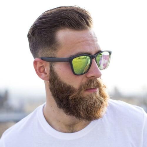 Barbas con cortes de pelo cortos