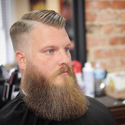 Viudas Peinados de pico con barba grande