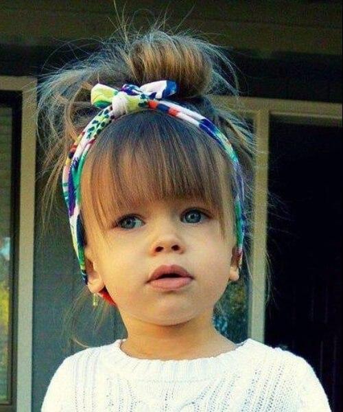 pequeña niña peinados flequillo