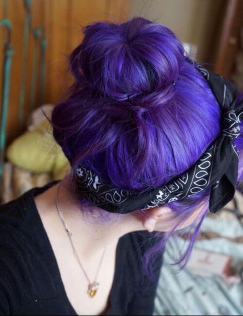 pañuelo del nudo superior del pelo púrpura