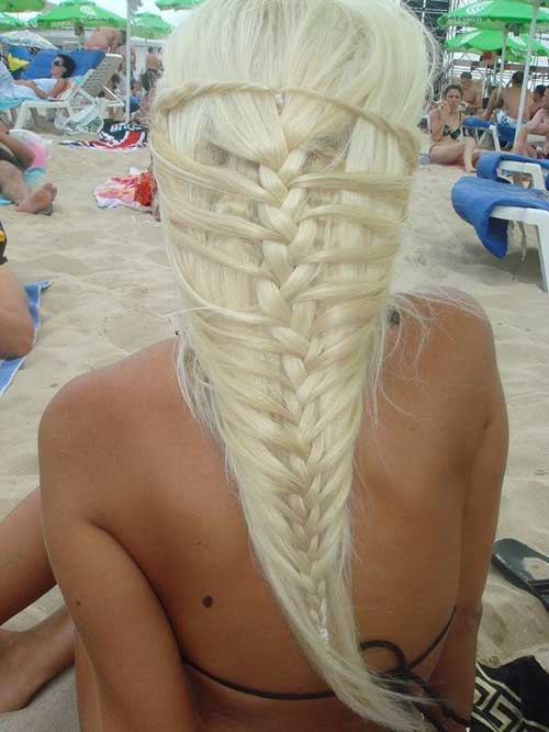 Khaleesi Style Blonde Braid