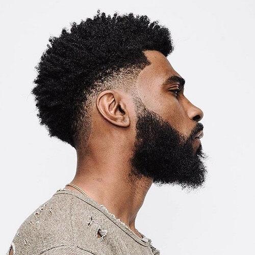 Estilos de corte de pelo afro para hombres negros