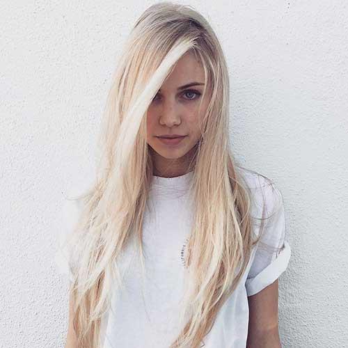 Cortes largos en capas de cabello