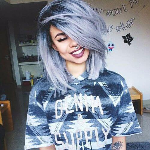 largo-azul-pastel-bob-corte de pelo