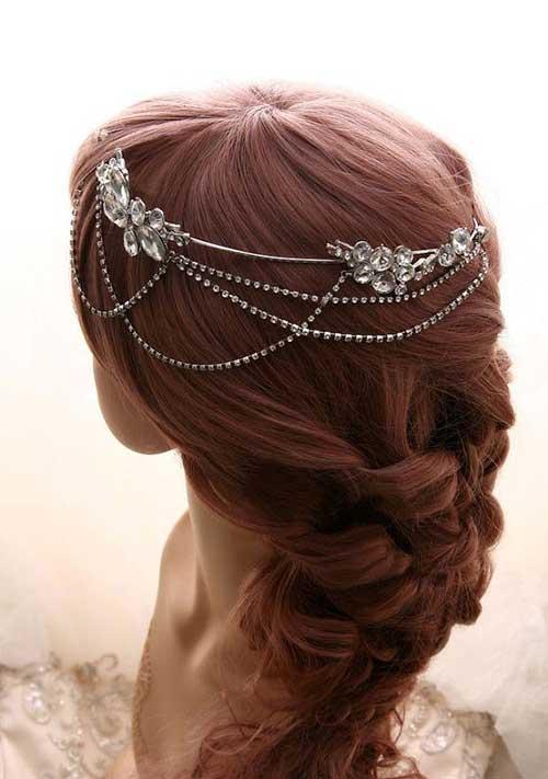 Bohemia accesorios de boda pelo