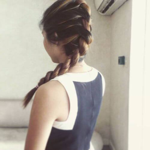 french twist largo trenzado peinado