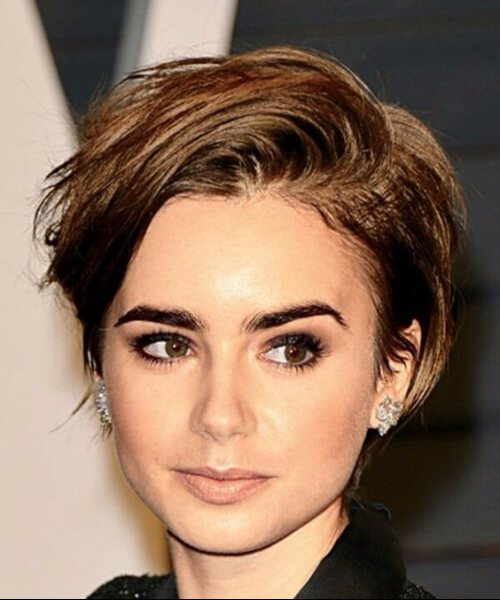 lilly collins corte largo duendecillo