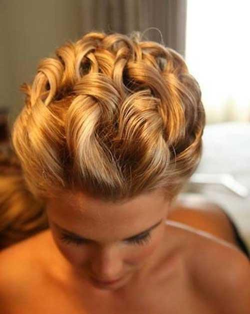 Peinados cortos de la boda Updo