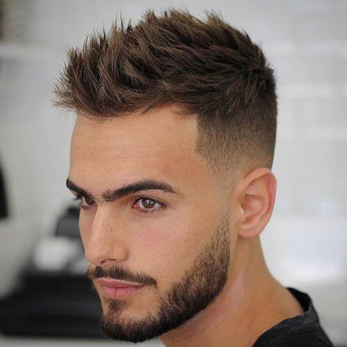Spiky Taper Fade corte de pelo