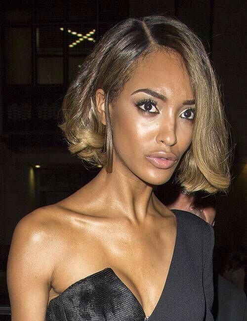 peinados cortos de extrema elegancia para mujeres negras