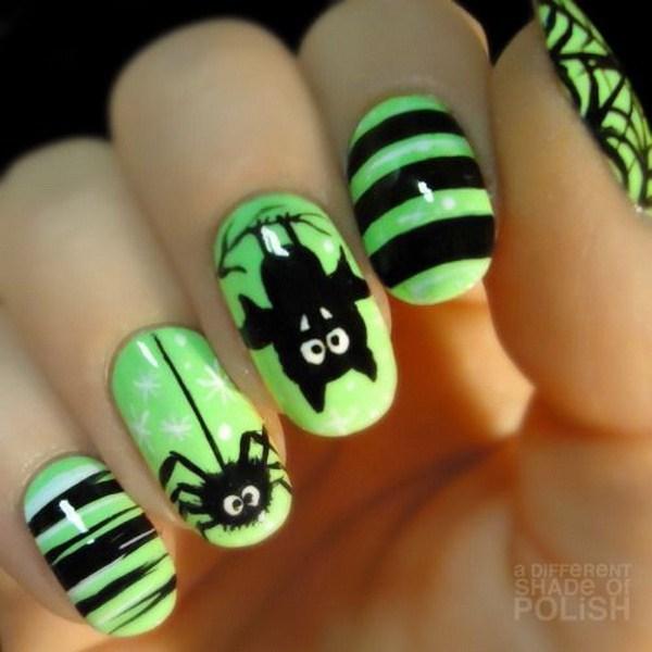 50+ diseños de arte de uñas Spooky Halloween » Página 2 de 2 » Largo ...