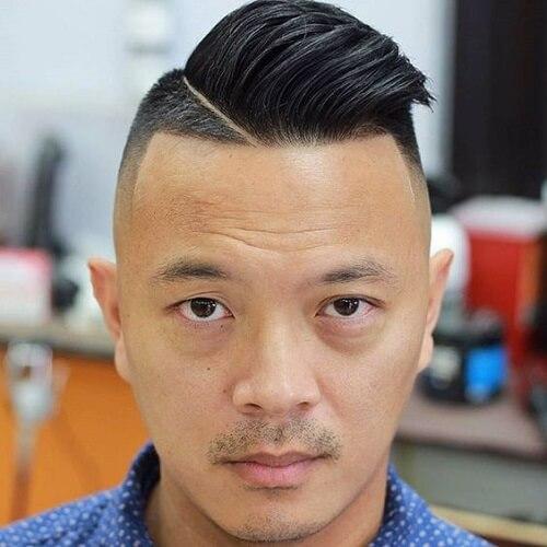 Peinados modernos asimétricos para hombres