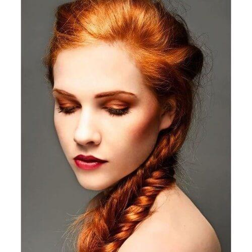 tonos de color naranja pelo de pelo rojo