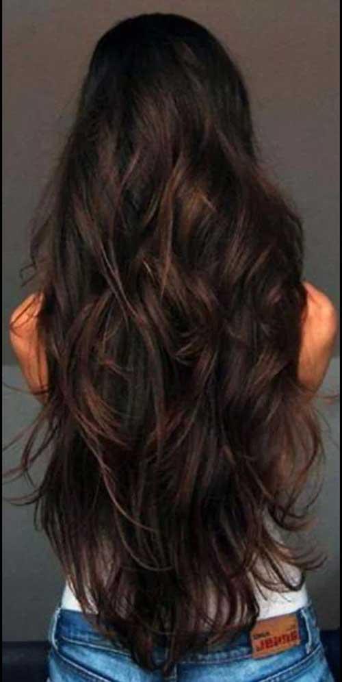 Peinado largo morena