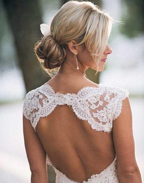Low Updos para el cabello de la boda