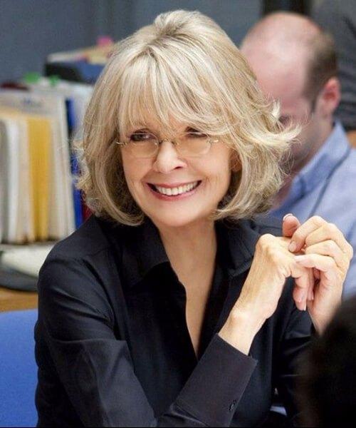 Peinados Diane Keaton para mujeres mayores de 40 años