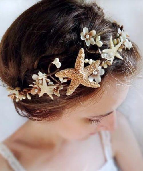peinados de boda en la playa para cabello largo